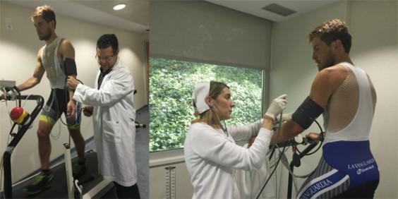 pruebas de esfuerzo titan desert 2015 con Dr. Llerena y enfermera