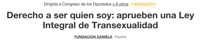 fundación Daniela en change.org
