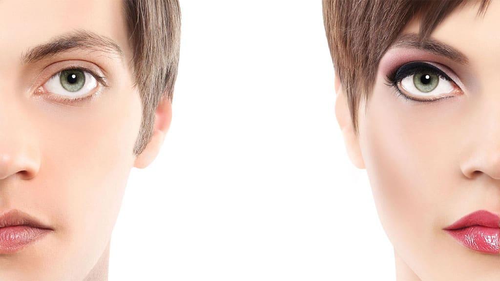 feminización del rostro