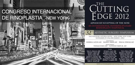Symposium internacional sobre rinoplastia, The Cutting Edge 2012, N.Y.