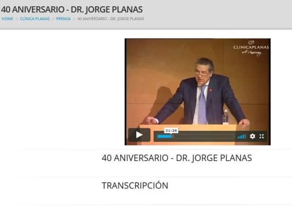 40 aniversario - Dr. Jorge Planas