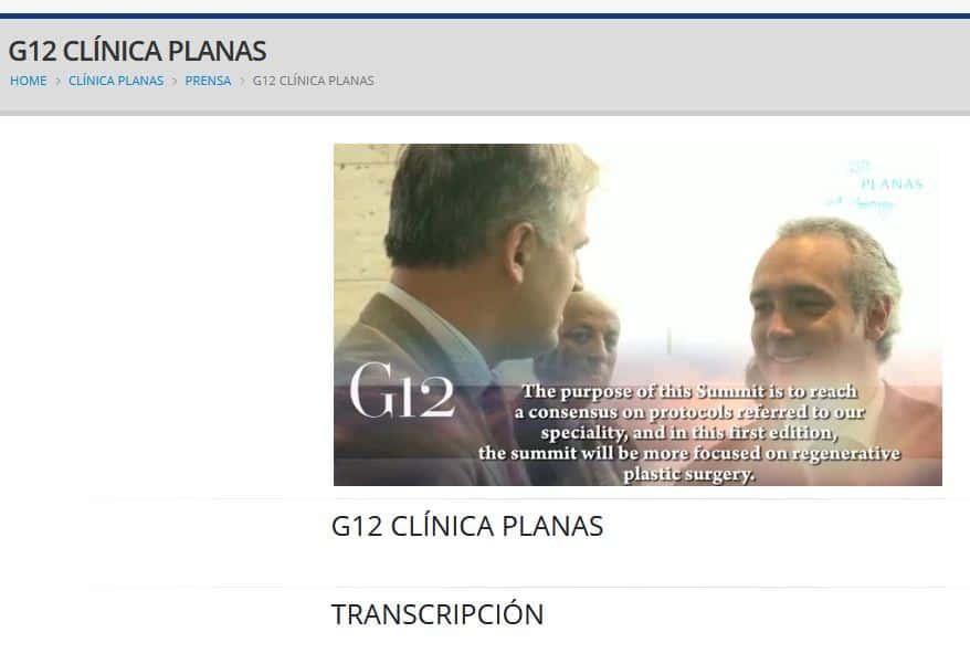 G12 Clínica Planas